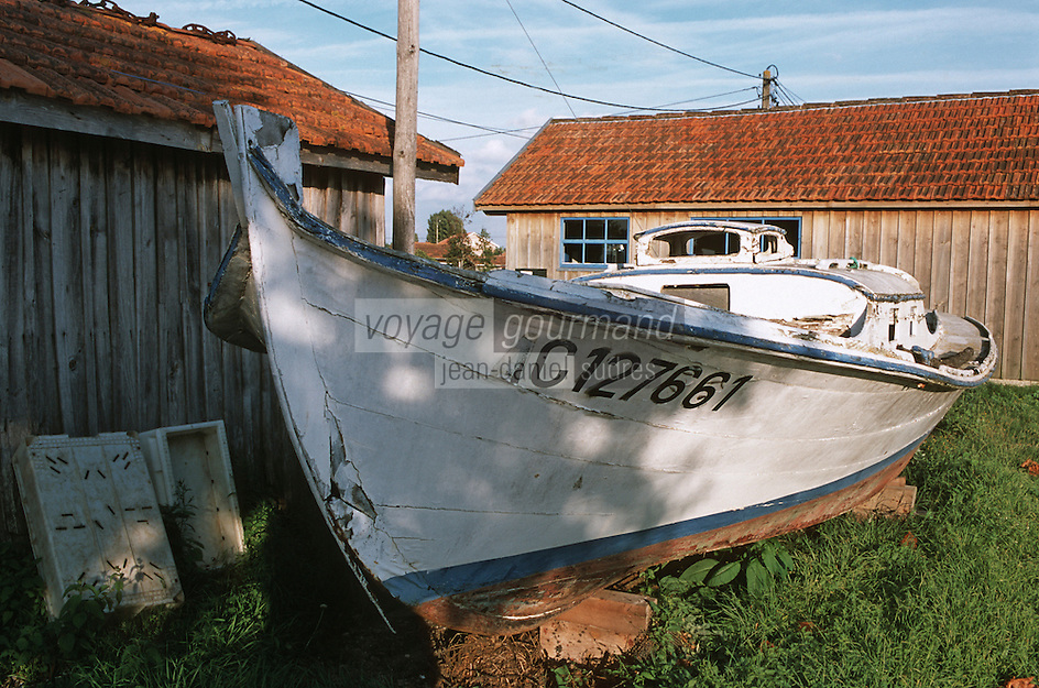 Europe/France/Aquitaine/33/Gironde/Bassin d'Arcachon/La Teste-de-Buch: Port Ostréicole Pinasse et Cabanons