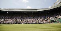 28-6-08, England, Wimbledon, Tennis,  Caroline Wozniacki on Centercourt