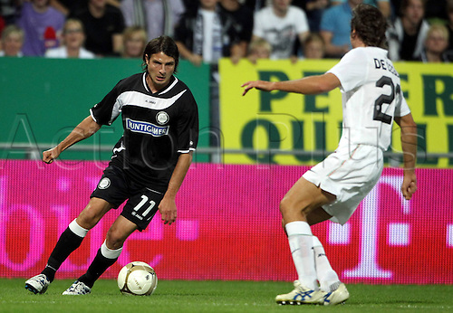 19.08.2010 Europa League SK Sturm Graz v Juventus Play Off for qualification. Picture shows Imre Szabics Sturm Graz and Paolo de Ceglie Juventus