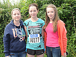 Emma Fay who took part in the Annagassan 10K run pictured with her mam Annette and sister Kayleigh. Photo: Colin Bell/pressphotos.ie