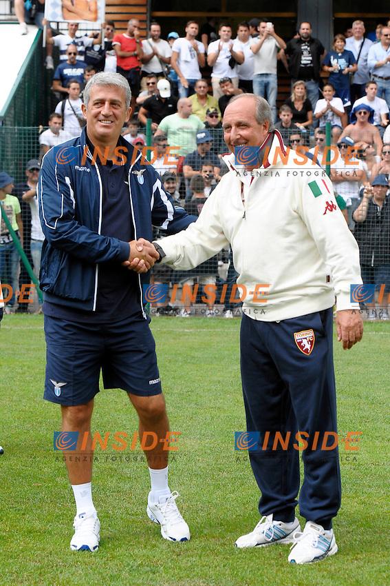 Vladimir Petkovic Lazio Giampiero Ventura Torino.Auronzo di Cadore 26/7/2012.Football Calcio 2012 / 2013 .Amichevole Friendly Match.SS Lazio Vs FC Torino.Foto Insidefoto.