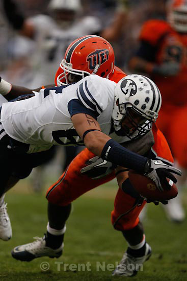 Trent Nelson  |  The Salt Lake Tribune.BYU tight end Devin Mahina (84) dives for the end zone but is stopped at the one yard line, as BYU defeats UTEP in the New Mexico Bowl, college football Saturday, December 18, 2010 in Albuquerque, New Mexico.