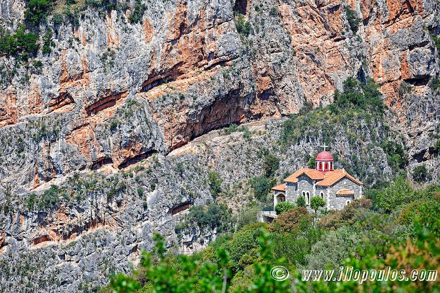 Metamorfosi Chapel near Dimitsana in Arcadia, Peloponnese, Greece.