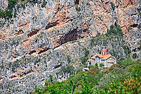 Metamorfosi Chapel near Dimitsana in Arcadia, Peloponnese, Greece.