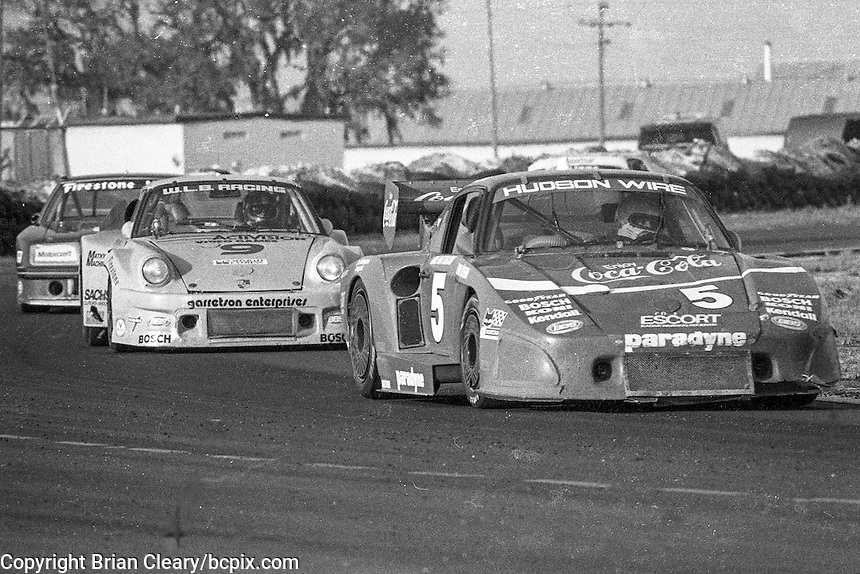 #5 Porsche 935 of John O'Steen, Dale Whittington and Bob Akin (2nd place) and #9 Porsche 934 of Wayne Baker, Kees Nierop, and Jim Mullen (1st place, winner) 12 Hours or Sebring, Sebring International Raceway, Sebring, FL, March 19, 1983.  (Photo by Brian Cleary/bcpix.com)