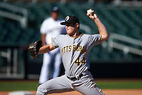 Glendale Desert Dogs pitcher Cody Dickson (44) delivers a pitch during an Arizona Fall League game against the Surprise Saguaros on October 23, 2015 at Salt River Fields at Talking Stick in Scottsdale, Arizona.  Glendale defeated Surprise 9-6.  (Mike Janes/Four Seam Images)