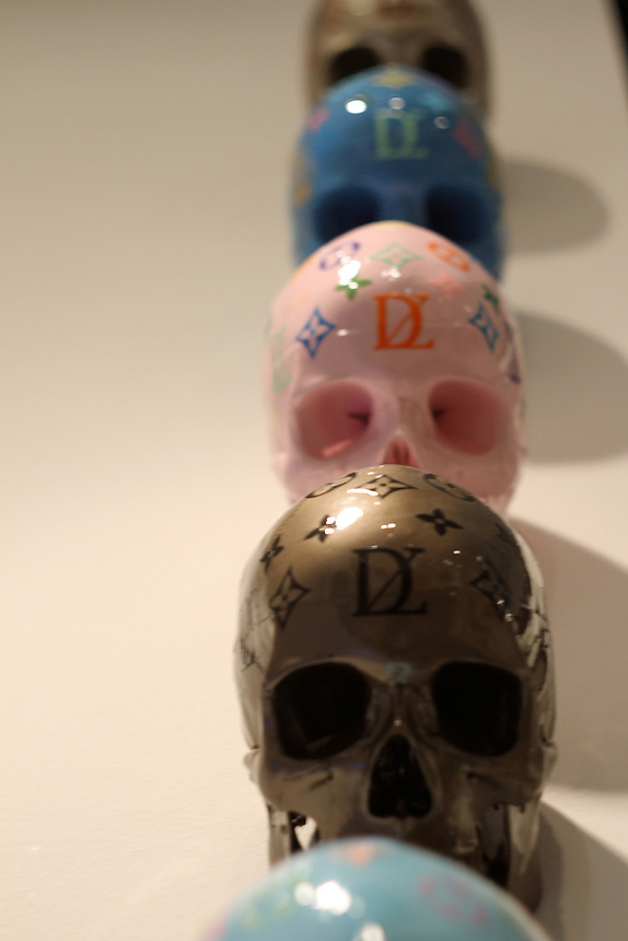 colored Louis Vuitton skulls a
