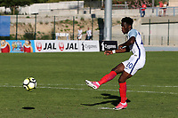 Ike Ugbo of Chelsea scores England's first goal in the penalty shoot-out during England Under-18 vs Ivory Coast Under-20, Toulon Tournament Final Football at Stade de Lattre-de-Tassigny on 10th June 2017