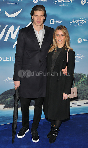 Toby Huntington-Whiteley and guest at the &quot;Cirque du Soleil: Amaluna&quot; press night, Royal Albert Hall, Kensington Gore, London, England, UK, on Thursday 12 January 2017.  <br /> CAP/CAN<br /> &copy;CAN/Capital Pictures /MediaPunch ***NORTH AND SOUTH AMERICAS ONLY***