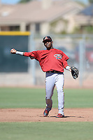 Arizona Diamondbacks infielder Henry Castillo (8) during an instructional league game against the San Francisco Giants on October 3, 2013 at Giants Baseball Complex in Scottsdale, Arizona.  (Mike Janes/Four Seam Images)