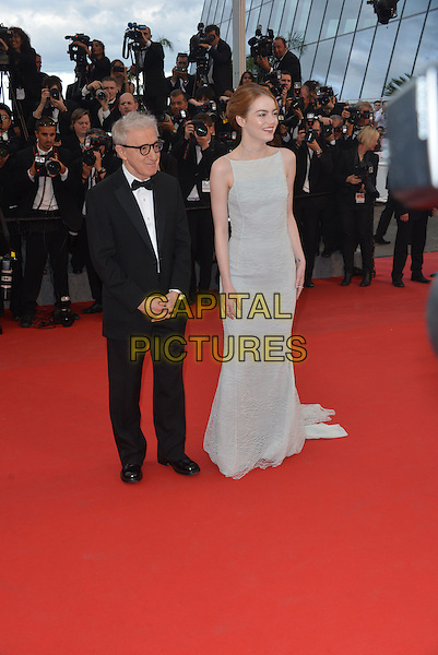 Woody Allen, Emma Stone attend the Premiere of 'Irrational Man' during the 68th annual Cannes Film Festival on May 15, 2015 in Cannes, France.<br /> CAP/PL<br /> &copy;Phil Loftus/Capital Pictures