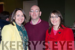 Nollag Ní Laoire, Donal O Laoire and Catriona Durcan at the tribute to  Cuz Teahan in the Scartaglin Heritage Centre on Saturday night