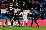 Real Madrid's Brahim Diaz and CD Leganes's Jonathan Cristian Silva during Copa Del Rey match between Real Madrid and CD Leganes at Santiago Bernabeu Stadium in Madrid, Spain. January 09, 2019. (ALTERPHOTOS/A. Perez Meca)