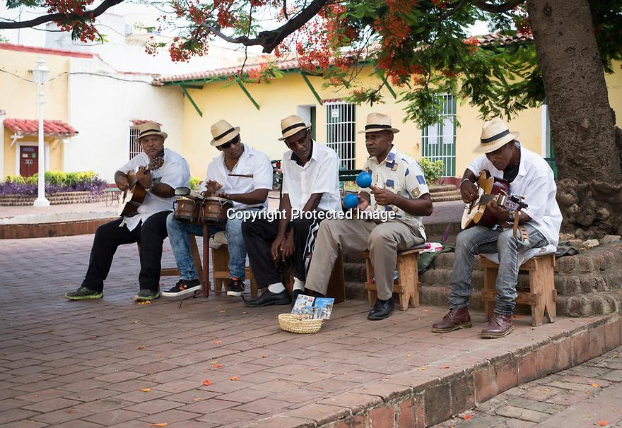 27/07/18<br /> <br /> Cuban street musicians, Trinidad, Cuba.<br /> <br /> All Rights Reserved, F Stop Press Ltd. (0)1335 344240 +44 (0)7765 242650  www.fstoppress.com rod@fstoppress.com