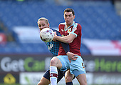 02/05/16 Sky Bet League Championship  Burnley v QPR<br /> Michael Keane with Sebastian Polter
