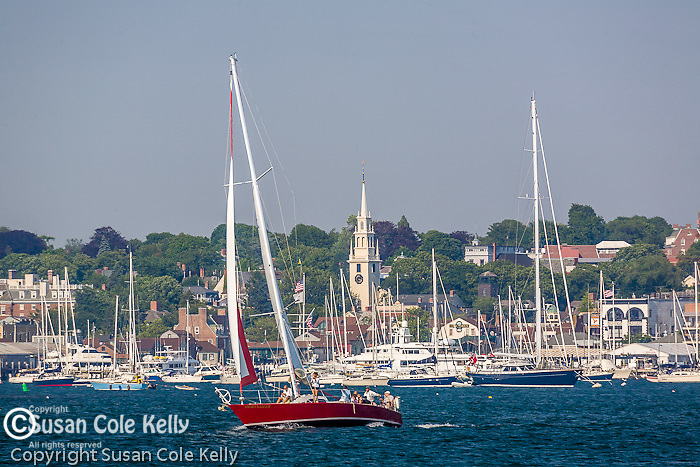 Boating in Newport Harbor, Newport, Narragansett Bay, RI