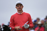 Justin Rose (GBR) looks over his tee shot on 9 during round 1 of the 2019 US Open, Pebble Beach Golf Links, Monterrey, California, USA. 6/13/2019.<br /> Picture: Golffile | Ken Murray<br /> <br /> All photo usage must carry mandatory copyright credit (© Golffile | Ken Murray)