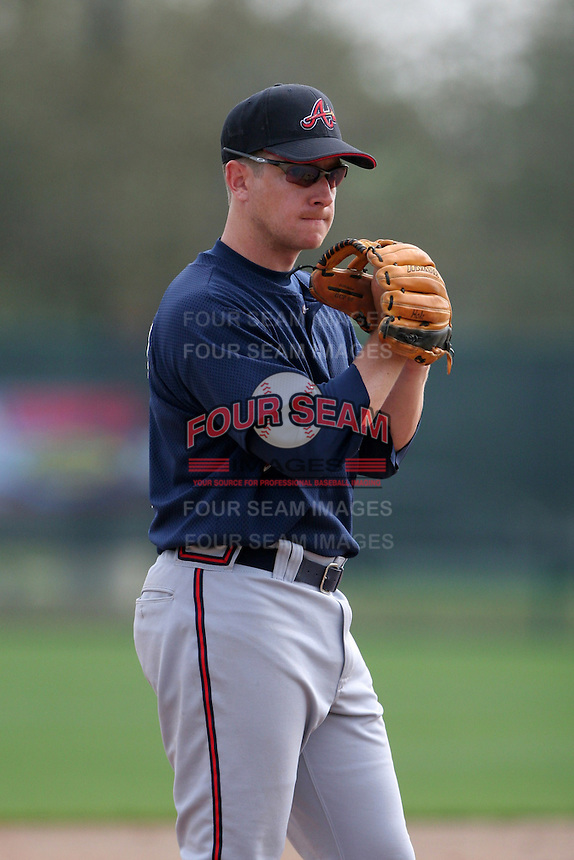 Atlanta Braves minor leaguer Jon Schueholz during Spring Training at Disney's Wide World of Sports on March 14, 2007 in Orlando, Florida.  (Mike Janes/Four Seam Images)
