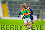 Conor O'Shea South Kerry in Action against Kevin O'Sullivan Kenmare in the County Senior Football Semi Final at Fitzgerald Stadium Killarney on Sunday.