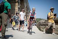 Mads Würtz Schmidt (DEN/Katusha-Alpecin) at the race start at the Pont du Gard<br /> <br /> Stage 17: Pont du Gard to Gap(206km)<br /> 106th Tour de France 2019 (2.UWT)<br /> <br /> ©kramon