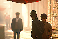 In recent years, the Chinese have begun a systematic destruction of the Old City of Kashgar. According to some accounts, nearly half of the narrow alleys and earthen homes of the city's earliest residential areas have been bulldozed to the ground to be replaced with open plazas, modern apartments, and wide roads..