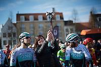 pre-race cyclo-selfie<br /> <br /> 3-daagse van West-Vlaanderen 2016<br /> stage1: Bruges-Harelbeke 176km
