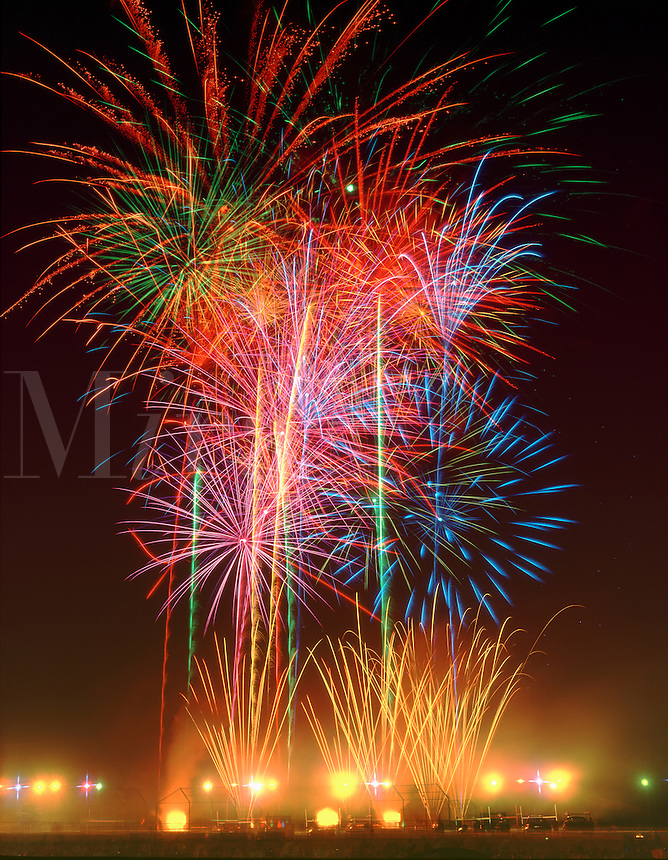 Fireworks  -  Fourth of July.Municipal display  in Jackson, NJ.