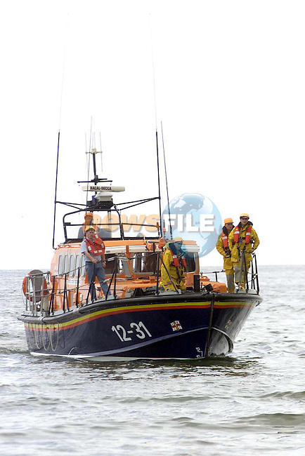 Clogherhead Lifeboat out at sea at the Clogherhead Lifeboat Station open day..Picture Paul Mohan Newsfile