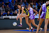 Pulse' Karin Burger and Stars' Mila Reuelu-Buchanan in action during the ANZ Premiership - Pulse v Stars at Te Rauparaha Arena, Porirua, New Zealand on Wednesday 3 April 2019. <br /> Photo by Masanori Udagawa. <br /> www.photowellington.photoshelter.com