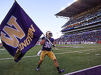 Taniela Tupou celebrates the Apple Cup victory.