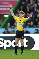 Referee Craig Maxwell-Keys during the Premiership Rugby match between Harlequins and Saracens - 09/01/2016 - Twickenham Stoop, London<br /> Mandatory Credit: Rob Munro/Stewart Communications
