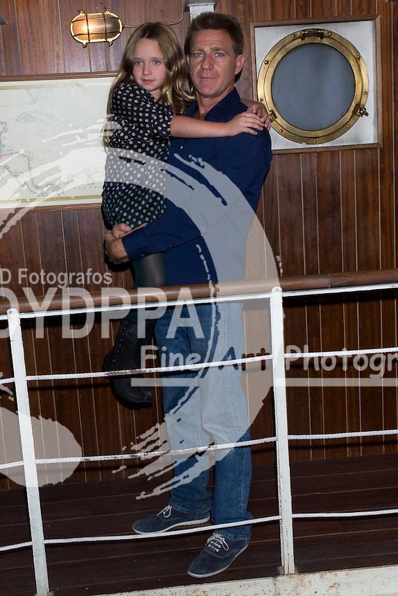 17/10/2012. Madrid. Spain. Presentation of the third season of  ´El Barco´ (The Boat). Patricia Arbues and Juanjo Artero. (C) Marta G. Rodriguez / DyD Fotografos