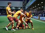 Peter Hartley celebrates after scoring goal no 2