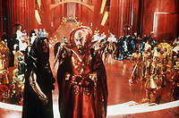 Flash Gordon (1980) <br /> Peter Wyngarde &amp; Max von Sydow<br /> *Filmstill - Editorial Use Only*<br /> CAP/KFS<br /> Image supplied by Capital Pictures