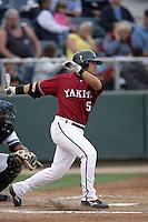 July 7 2009: Astolfo Inciarte of the Yakima Bears bats against the Everett AquaSox at Everett Memorial Stadium in Everett,WA.  Photo by Larry Goren/Four Seam Images