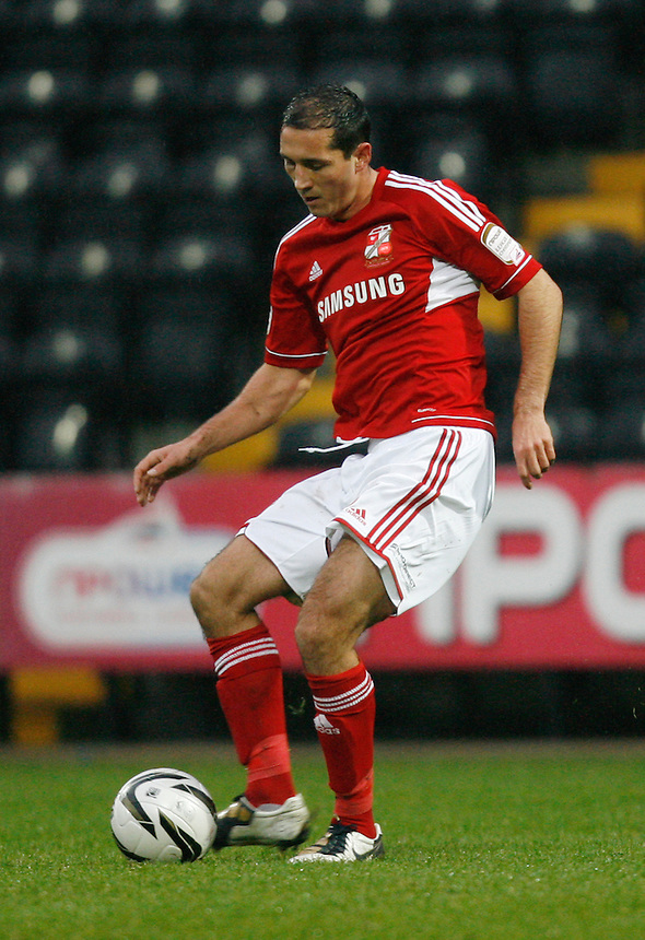 Swindon Town's Joe Devera in action during todays match  ..Football - npower Football League Division One - Notts County v Swindon Town - Saturday 24th November 2012 - Meadow Lane - Nottingham..