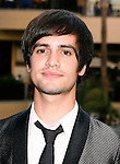 """HOLLYWOOD, CA. - September 16: Brendon Urie of Panic at the Disco arrives at """"Jennifer's Body"""" Hot Topic Fan Event at Hot Topic on September 16, 2009 in Hollywood, California."""