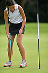 Catherine Cronin of the Forest Hills Country Club sinks a putt on the first day of the Metropolitan Amateur Golf Association's 20th Junior Amateur Championship being held at the St. Clair Country Club in Belleville, IL on July 1, 2019. <br /> Tim Vizer/Special to STLhighschoolsports.com