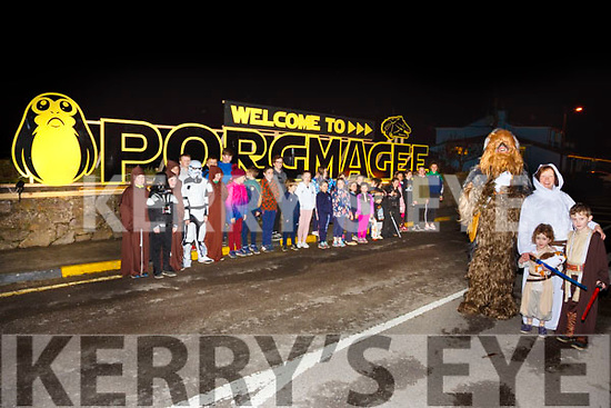 Pictured at the lighting up of Portmagee's beacon to join in the fight to Restore the Republic and restore the Jedi to power pictured here Porgmagee's young Jedi and supporters.