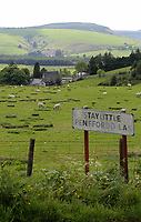 Pictured: The Staylittle sign. Thursday 01 June 2017<br /> Re: There has been a 4G mobile phone mast installed at the village of Littlestay in Powys, Mid Wales.