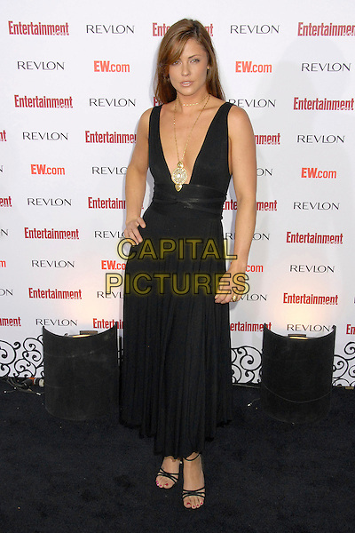SUMMER ALTICE.Entertainment Weekly's 5th Annual Emmys Celebration held at the Opera - Crimson, Hollywood, California, USA..September 15th, 2007.full length black dress hand on hip plunging neckline .CAP/ADM/BP.©Byron Purvis/AdMedia/Capital Pictures.