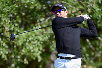 Camilo Villegas (COL) watches his tee shot on 2 during round 4 of the Valero Texas Open, AT&amp;T Oaks Course, TPC San Antonio, San Antonio, Texas, USA. 4/23/2017.<br /> Picture: Golffile | Ken Murray<br /> <br /> <br /> All photo usage must carry mandatory copyright credit (&copy; Golffile | Ken Murray)