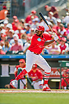 24 February 2019: St. Louis Cardinals outfielder Dexter Fowler at bat during a Spring Training game against the Washington Nationals at Roger Dean Stadium in Jupiter, Florida. The Cardinals fell to the Nationals 12-2 in Grapefruit League play. Mandatory Credit: Ed Wolfstein Photo *** RAW (NEF) Image File Available ***