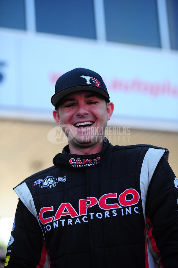 May 6, 2012; Commerce, GA, USA: NHRA top fuel dragster driver Steve Torrence during the Southern Nationals at Atlanta Dragway. Mandatory Credit: Mark J. Rebilas-