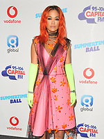 Rita Ora at the Capital FM Summertime Ball 2018, Wembley Stadium, Wembley Park, London, England, UK, on Saturday 09 June 2018.<br /> CAP/CAN<br /> &copy;CAN/Capital Pictures