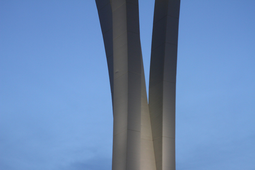 support beams of the new marlins baseball stadium