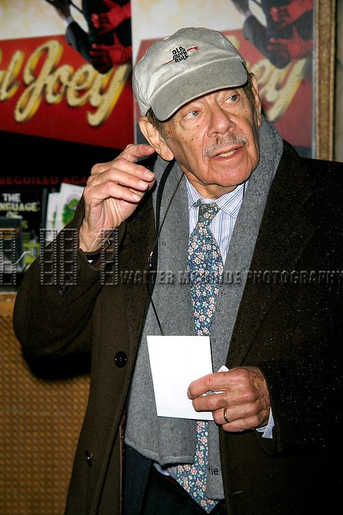 Jerry Stiller arriving for the Opening Night Performance of The Roundabout Theatre Company's Production of PAL JOEY at Studio 54 in New York City.<br />December 11, 2008