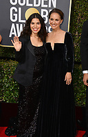 America Ferrera & Natalie Portman at the 75th Annual Golden Globe Awards at the Beverly Hilton Hotel, Beverly Hills, USA 07 Jan. 2018<br /> Picture: Paul Smith/Featureflash/SilverHub 0208 004 5359 sales@silverhubmedia.com