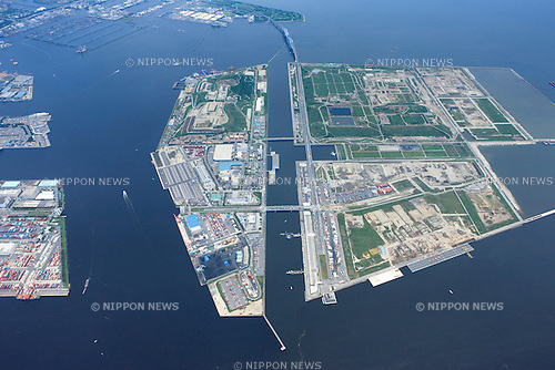 Sea forest waterway: Tokyo, Japan: Aerial view of proposed venue for the 2020 Summer Olympic Games. (Photo by AFLO)