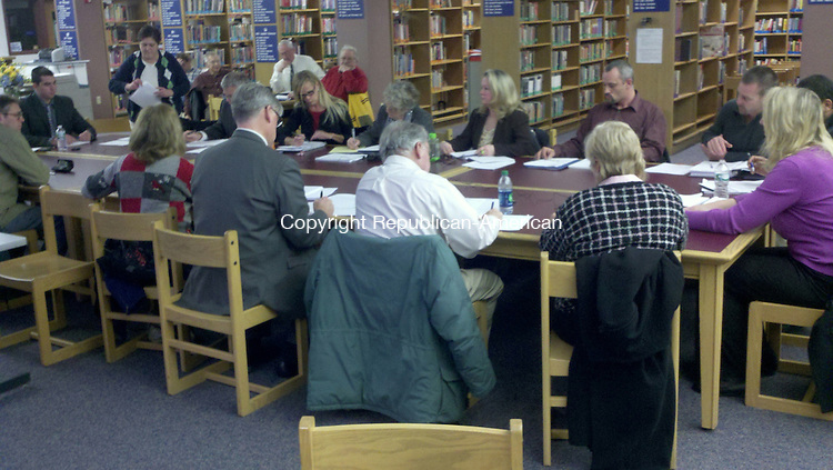WINSTED, CT - 16 Dec. 2013 - 121613KM01 - Winsted selectmen met with school officials to find out what their needs are as they begin preparing for the 2014-15 budget. Kurt Moffett Republican-American